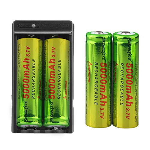 Tokeyla Full Metal 5 Modes Tactical Flashlight with 4-Pack 18650 Rechargeable Batteries and USB Charger Super Bright High Lumen Handheld Flashlight