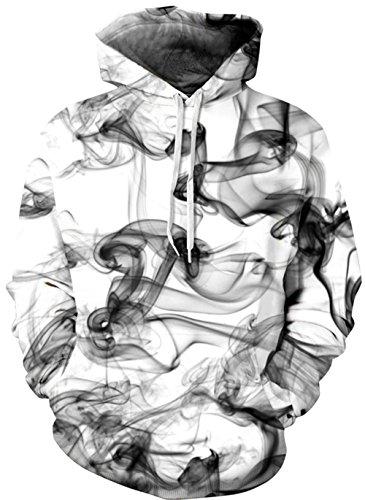 Imbry Herren Slim Fit Hoodie Long Sleeve Kapuzenpullover 3D Druck Muster Sweatshirt Pullover (S/M, Linie 2)