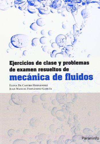 Ejercicios de clase y problemas de examen resueltos de mecánica de fluidos (Ingeniería)