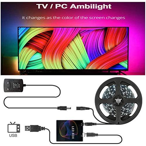 NANUNU 4m LED-Streifen Smart LED-Streifen TV PC zurück Beleuchtung Traum Bildschirm Computerbildschirm 30LEDs EU Plug Computer Leuchten