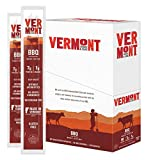 Vermont Smoke and Cure Meat Sticks, BBQ Beef, Antibiotic Free, Gluten Free, BBQ, Great Keto Snack, High in Protein, Low Sugar, 1oz Stick (32573) (Pack of 24)