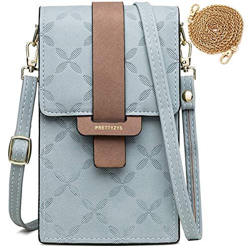HAIWILL Handy Umhängetasche Damen, Mini Bag für Handy Frau Pu Leder Schultertasche Brieftasche Elegant Handytasche mit Verstellbar Schultergurt für iPhone 11 Pro/11/Xs Max/XR/Xs, Handy bis zu 6.5
