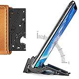 Pocket Tripod Pro da Geometrical - Kit universal (preto fosco) - EDC Tripé de telefone de fibra de carbono ajustável com tamanho de cartão universal para iPhone e Android com TPU Grip para fotografia móvel (iP11)