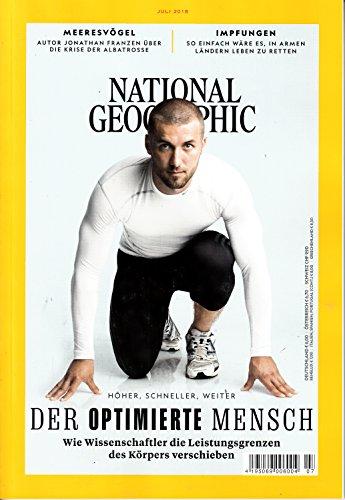 National Geographic Deutschland 7 2018 Der optimierte Mensch Zeitschrift Magazin Heft Einzelheft