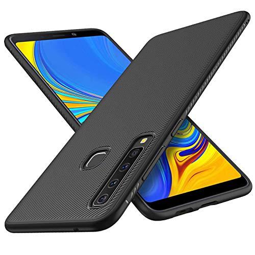 FGXG Hülle Kompatibel mit Samsung Galaxy A9 2018 Handyhülle.Silikon Schutzhülle, Ultra Thin Tasche Cover,stoßfeste TPU Schutzhülle, ultradünne & langlebige Hülle(schwarz)