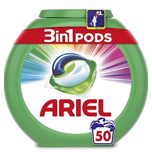 Ariel 3 en 1 Pods Color y Style, Detergente Cápsulas - 50 Lavados