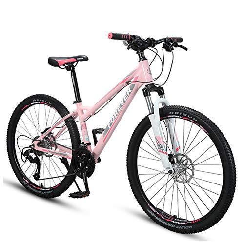 NENGGE 26 Zoll Damen Mountainbike, Hardtail Fahrrad mit Scheibenbremsen, Alu Rahmen Jugendfahrrad, Mädchen-Fahrrad,27 Speed