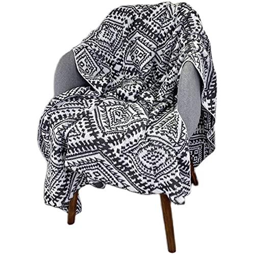 TENGTUD Manta de Punto, Manta con patrón de tótem para Cubrir la Manta / Manta de Aire Acondicionado / Manta de sofá / Manta de cama-100x150cm