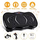 AGM Unisex's Power Plate Gym Fitness Machine with Bluetooth Speaker Vibration Trainer for Weight Loss & Body Toning 21LB, Black, 3 Modes
