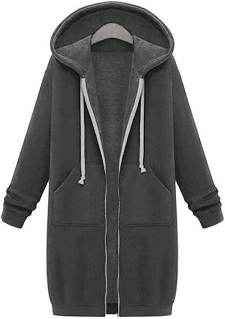 Inlefen Women's Jacket Women's Coats Sweatshirts Windproof Warm Hooded Outwear