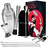 NATUMO® Juego de Coctelera Profesional Premium con accesorios inox 8 piezas, coctelera pr...