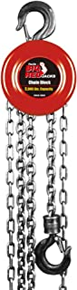 Torin Big Red Chain Block / Manual Hoist with 2 Hooks, 5 Ton (10,000 lb) Capacity
