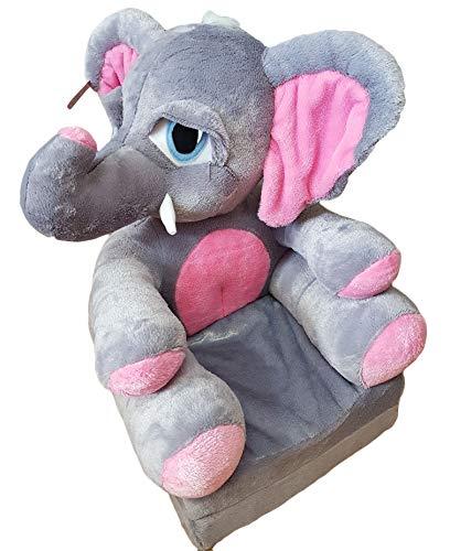 Bambi Poltrona, poltroncina apribile, divanetto per bambini in morbido peluche. Divano e giocattolo Elefante.