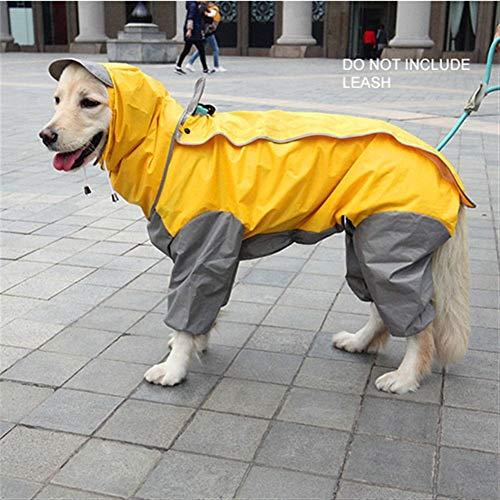 HYDT Kleiner Mittelständische Großer Fressnapf Hunderegenmantel mit Kapuze Overall (Color : Yellow, Size : 4XL)