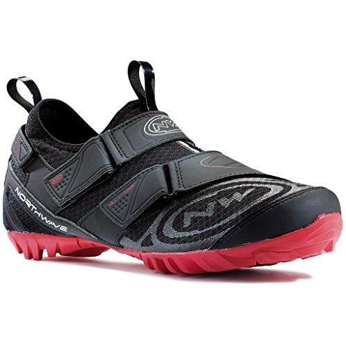 Zapatos Northwave MULTI APP bicicleta de montaña, negro-rojo, schuhgröße:gr. 47