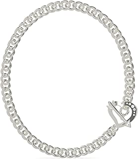 Guess Womens Stainless Steel Fashion Necklace - UBN79065, Color Silver, Size 45 cm