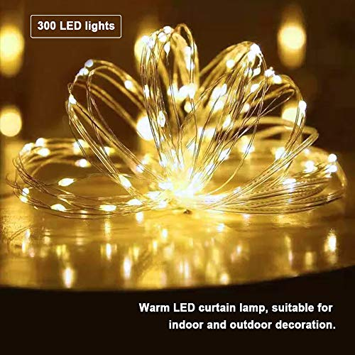 LED String Lights 9.9ft, Fairy Lights, 300 LED Warm White Starry String Light,for Bedroom Patio Birthday Wedding Party,with ON/Off Switch,Waterproof