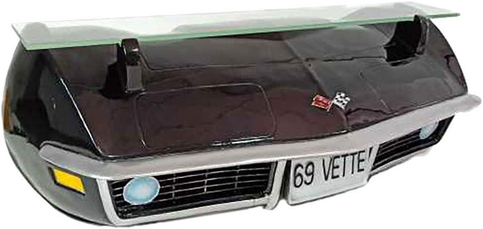 Red 1969 Chevrolet Corvette Stingray C3 Resin Wall Shelf