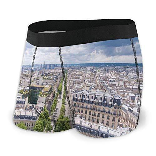 liusizheree Herren Boxer Briefs, Antenne Paris Eiffelturm Französisches Erbe Kultur Architektur Bild