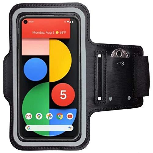 CoverKingz Brazalete deportivo para Google Pixel 5, con compartimento para llaves, Pixel 5, color negro