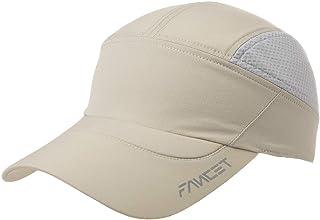 Mens UPF50 Quick-Dry Baseball Cap Foldable Brim Free-Size Sun Hat Unisex