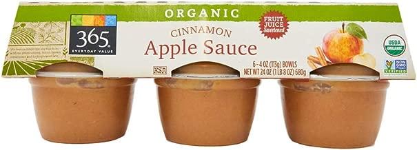 365 Everyday Value, Organic Apple Sauce, Cinnamon (6 - 4 oz bowls), 24 oz