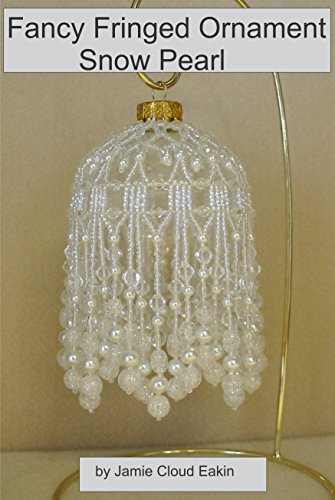 Fancy Fringed Ornament - Snow Pearl