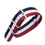 FOUUA Cinturini per orologi in nylon Stile Nato Scelta di colore, lunghezza e larghezza 18mm 20mm 22mm Cinturini balistici di ricambio per uomo Donna