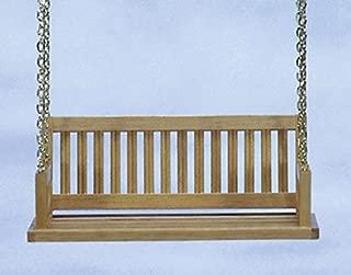 Dollhouse Miniature Porch Swing in Oak