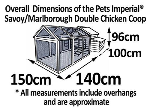 Pets Imperial® - Hühnerstall Savoy mit 1.4m Freilaufgehege - für 6 bis 8 Hühner Je nach Größe - leicht zu reinigen - 4
