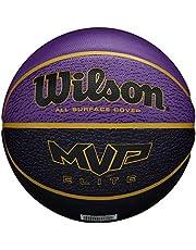 Wilson Basketbal, MVP ELITE BSKT 295 PRBL, maat: 7, rubbermateriaal, voor binnen en buiten, violet/zwart, WTB1461XB07