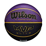 Wilson MVP Elite BSKT 295 PRBL Ballon de basket Men's, Purple/Black, OFFICIAL