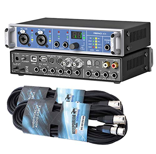 RME Fireface UCX - Interfaz USB y Firewire (incluye 2 cables Keepdrum...
