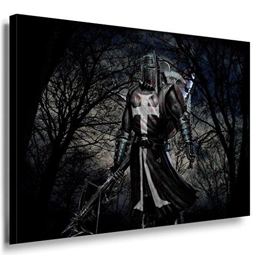 Game Ritter Kreuz Leinwandbild / LaraArt Bilder / Leinwand Bild + Mehrfarbig + Kunstdruck g09-1 Wandbild 40 x 30 cm