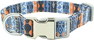 Meilianmei Pattern Print Dog Collar Quick Release Adjustabe Pet Cat Collar for Small Medium Large Dogs