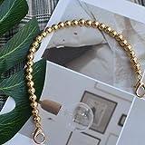 QINQ Marca Correa de Perlas para Bolsos Accesorios de Bolso Monedero Asas de cinturón Cadena de Cuentas Totalizador Partes de Mujer Plata OroNegro Cierre, Dorado, 120cm