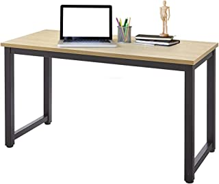 AZ L1 Life Concept Modern Studio Collection Soho Rectangular Computer Table , 55'', 55inch, Light Walnut