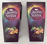 Quality Street Christmas - Scatola multipla per cioccolato, toffee e creme, 240 g, confezione da 2