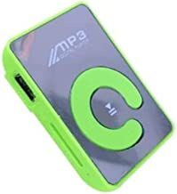 Funnyrunstore Mini Mirror Clip Reproductor de MP3 Portátil