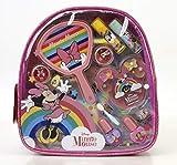 Markwins Minnie Mouse Beauty On The Go Bag – Set de maquillaje para niñas – Mochila infantil Minnie con espejo – Kit de maquillaje y accesorios de colores – Juegos y regalos para niños – 300 g