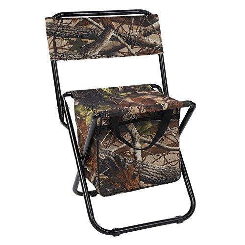 Campingstuhl, tragbar, strapazierfähig, Camouflage-Sitz, Zusammenklappbar, mit Rückentasche, für Camping, Angeln, Strand, Grillen