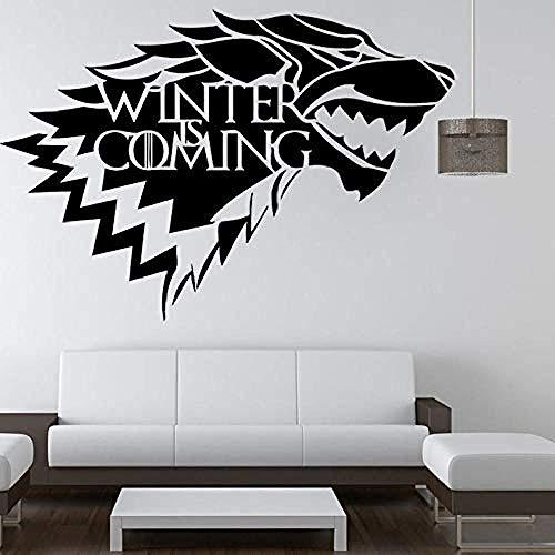 Lobo pegatinas de pared creativas pintura exposición estudio biblioteca decoración calcomanía sala de estar dormitorio decoración del hogar mural vinilo 42cmx30cm