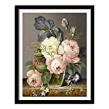 DIY Paint by Numbers White Peony Flower DIY Painting Paint by Number Kit for Kids Adults Painting by Numbers Painting 40x50cm