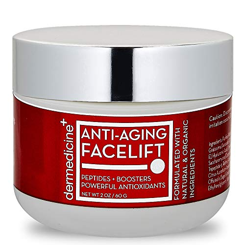 Natural Anti-Aging Facelift Cream for Face   Ultimate Moisturizer w/Retinol, Peptides, Stem Cells, Hyaluronic Acid, Vitamin E, Grape Seed   Helps Smooth Fine Lines, Wrinkles & Brightens   2 OZ / 60 G