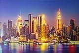 Dapo® LED-Wand-Leinwand-Bild-Leuchte-Lampe Skyline 60x40cm