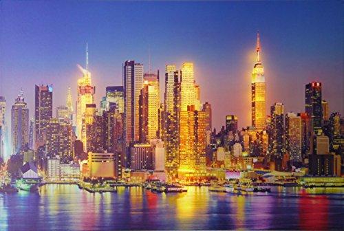 Dapo® LED-Wand-Leinwand-Bild-Leuchte-Lampe Skyline 60x40cm Stimmungs-Dekorations-indirekte-Leuchte-Lampe-Beleuchtung Batteriebetrieben, EIN/Aus-Schalter (Skyline)