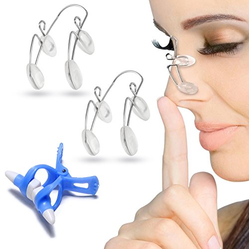 Nose Shaper Clip for Nose Up Lifting and Shaping, 3 Pcs Nose Slimmer Bridge Straightening Nose Corrector Nose Clip, Magic Nose Shaper Higher Kit Nose Lifter and Shaper Corrector Nasal Face Beauty Tool