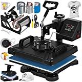 VEVOR Heat Press 12X15 Inch Heat Press Machine 8 in 1 Digital Multifunctional Sublimation Swing Away Heat Press 360 Degree Rotation Heat Press Machine for T Shirts Hat Mug Cap Plate