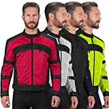Viking Cycle mens VC380 Mesh Motorcycle Jacket Jacket - Red - XXXX-Large