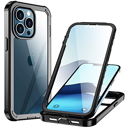 Gogorelax Compatible with iPhone Pro Case, Full-Body Clear Bumper Case with Built-in Screen Pro…
